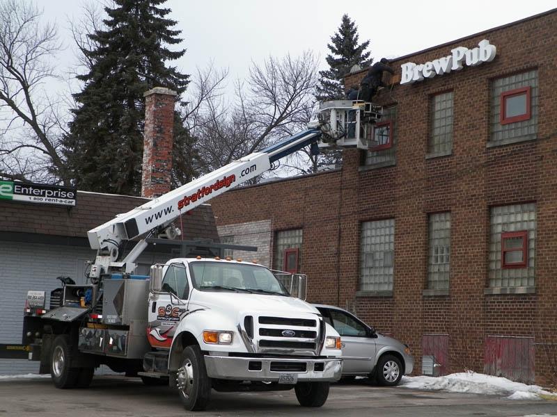 Crane Truck Service Stratford Sign Company